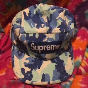 Blue Camouflage Supreme Hat